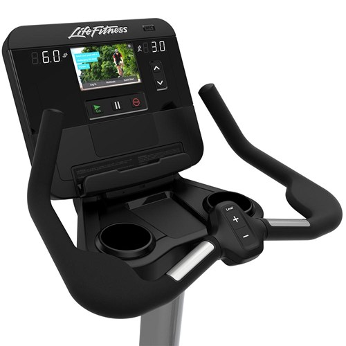 Life Fitness Club Series Plus Upright - Touch Screen Console, Multigrip Handles, Cup Holders and Heart Rate Monitoring