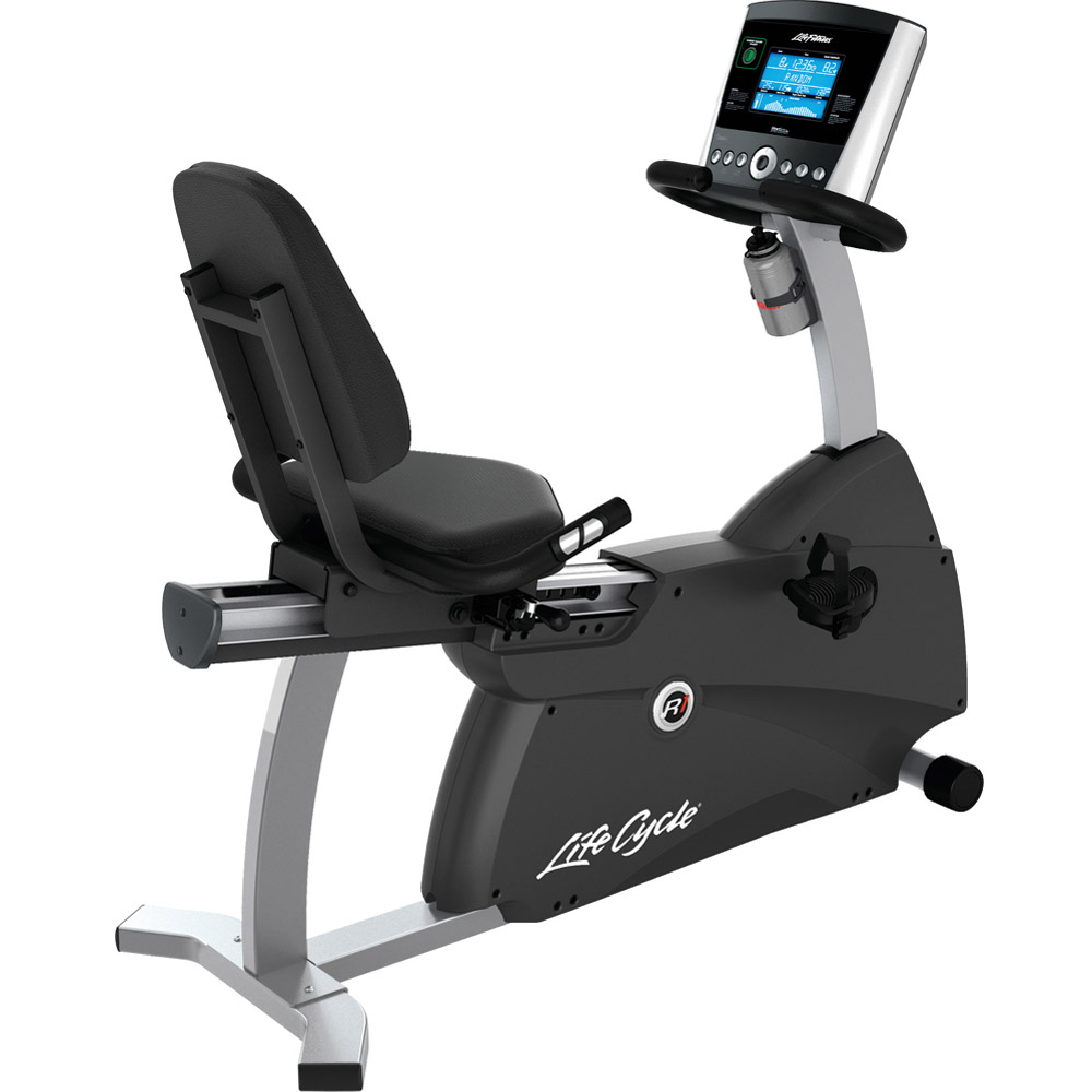 Life Fitness R1 Recumbent LifeCycle with Basic GO Console