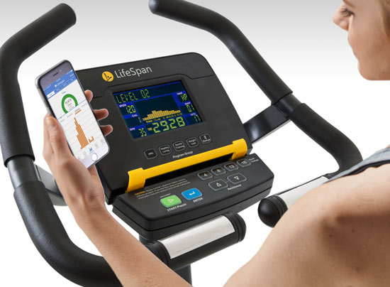LifeSpan C5i Console With Bluetooth Workout Tracking and MultiGrip Handles