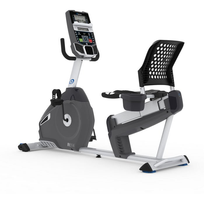 Nautilus R614 Recumbent Bike With Padded Seat and 22 Built in Workout Programs