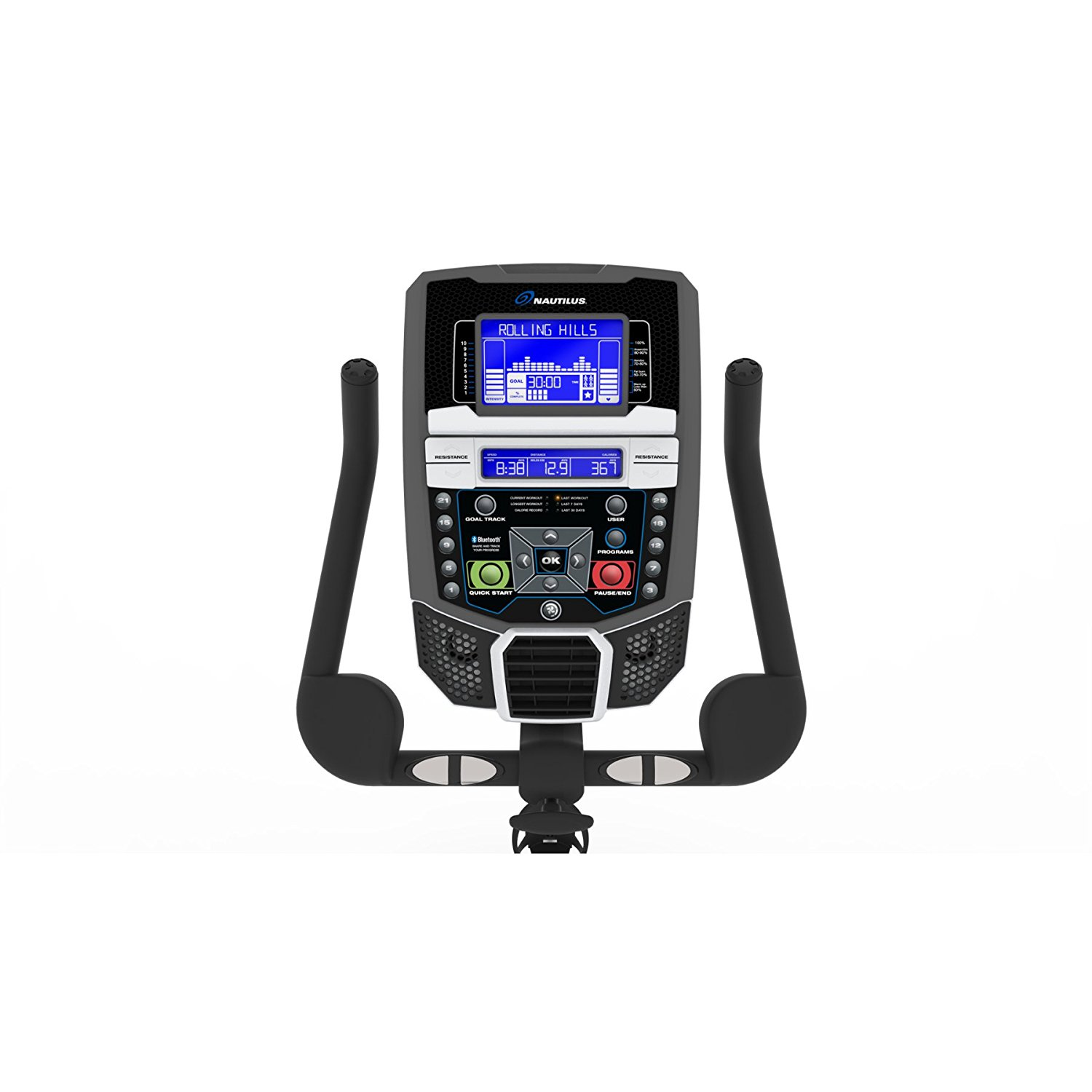 Nautilus U616 Console With Built in Workout Programs and Wireless Heart Rate