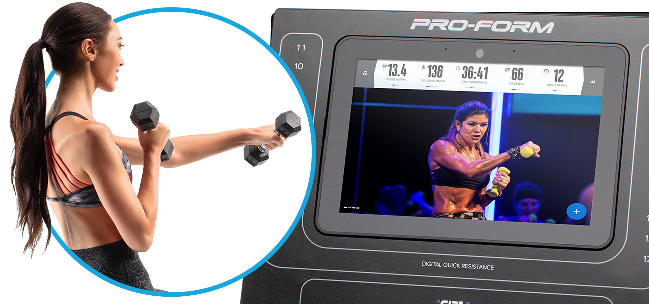 ProForm Cycle Trainer Console and Cross Training Capability
