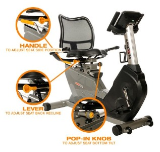 Lifecore LC1050RBs Recumbent Exercise Bike